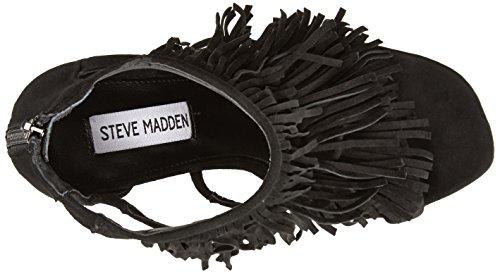 Steve Madden Damen Fringly Sandalen Schwarz