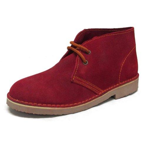 England Herren Desert Boot (Roamers - Desert-Boots - Veloursleder - klassisch - Rot - UK8/EU42)