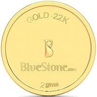 BlueStone BIS Hallmarked 2 grams 22k (916) Yellow Gold Precious Coin