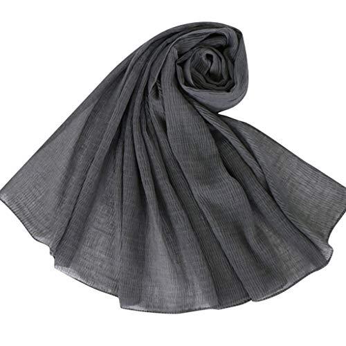 Lazzboy Frauen ethnischen Abaya islamischen muslimischen Nahen Osten solide Hijab Wrap Schal Kopfbedeckungen (N)