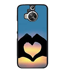 printtech Heart Peace Hardwell Sunset Back Case Cover for HTC One M9+