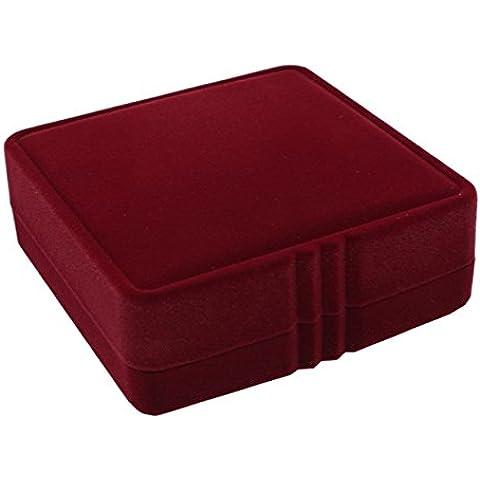 WODISON Confezioni Regalo pendente dei monili di immagazzinaggio dell'esposizione Caso Red Velvet