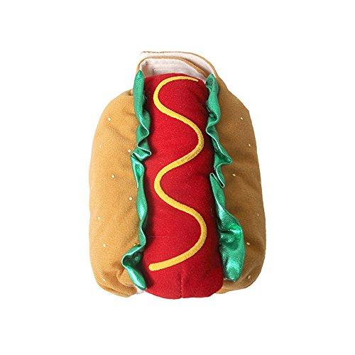 Halloween-Party verwandelt Sich in EIN Haustierprodukt Karneval Warm Carnival Christmas Hot Dog Hamburger Costume. Costume Pet Kleidung für kleine Hunde (Farbe : Gelb, größe : XL)