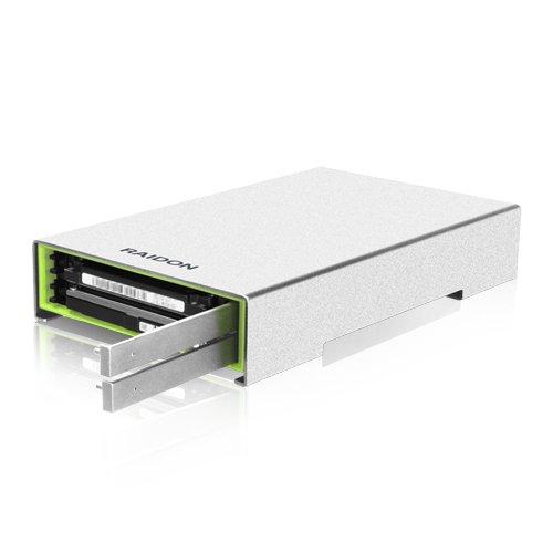 """Raidon GR2660-B3 Externes USB 3.0 RAID-System für 2x 2,5\"""" (6,35 cm) SATA HDD/SSD mit SATA III und UASP Unterstützung, trägerloses Design silber"""