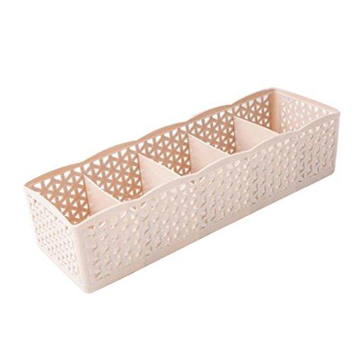 SetMei Plastic Aufbewahrungsbox Tie BH Socken Schublade Cosmetic Divider,5 Zellen (C) -