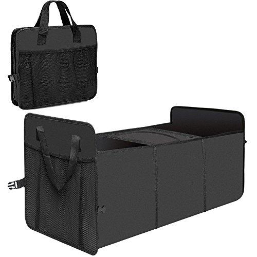 Tobao - Organizador Maletero Coche - Plegable Impermeable Bolsa con 2 Compartimientos y 1 Bolsa de Enfriamiento- Caja de Almacenamiento para SUV, Ir de Compra, Camping, Viaje