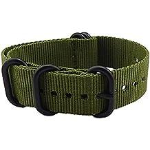 24mm ejército verde lujoso militar de nylon duradero estilo NATO correas de reloj bandas de reemplazos para los hombres