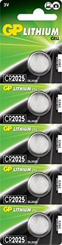 GP Batteries CR2025-C5 Lithium Coin Cell PK 5