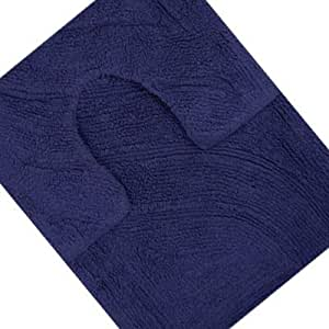 linens limited lot tapis de bain et tapis contour wc 100 coton bleu marine. Black Bedroom Furniture Sets. Home Design Ideas
