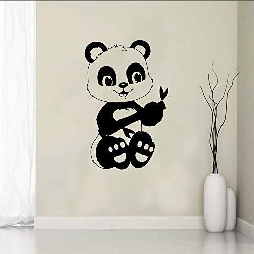 hetingyue Panda Creative Selbstklebende Vinyltapete Home Decoration Kids Family Aufkleber Home Decoration 54x82cm