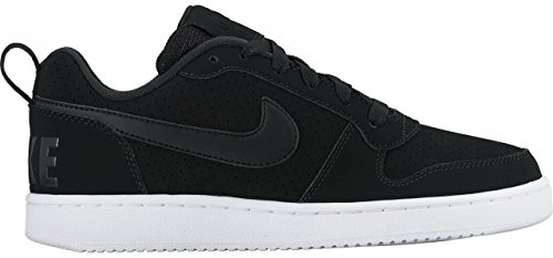 Nike Wmns Court Borough Low, Chaussures de Sport-Basketball Femme Noir / Noir-blanc
