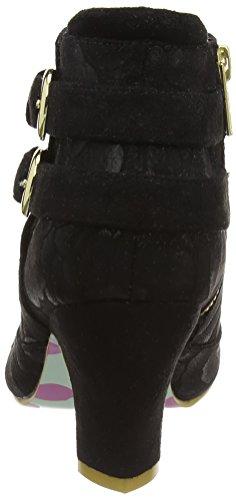 Irregular Choice Think About It, Bottes Classiques femme Noir - Black (Black Floral)