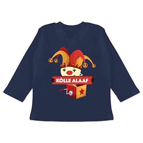Karneval und Fasching Baby - Kölle Alaaf Jack in The Box - 6-12 Monate - Navy Blau - BZ11 - Baby T-Shirt ()