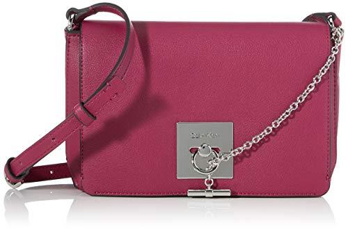 Calvin Klein Ck Lock Med Flap Crossbody - Borse a tracolla Donna, Viola (Magenta), 7.5x13x21 cm (B x H T)
