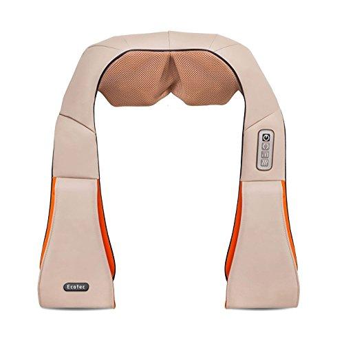 Ecotec Masajeador de Cuello para Hombro Espalda Cuello Masajeador Eléctrico con Función de Calor Masaje de Rotación 3D Alivio del Dolor Muscular para Oficina Car Home