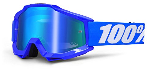 100% PROZENT ACCURI REFLEX BLAU VERSPIEGELT BRILLE GOGGLE MOTOCROSS CROSS MTB QUAD ATV SUPERMOTO OFFROAD