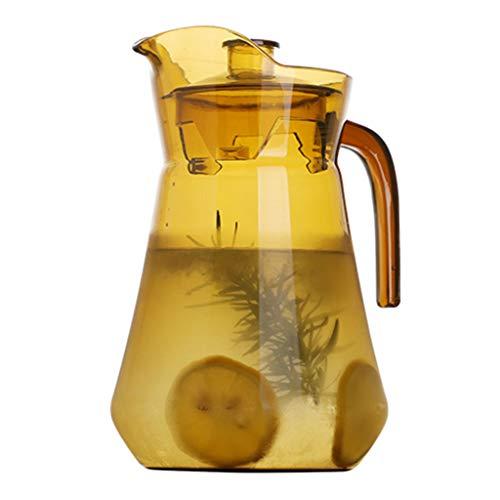 Teekessel Wasserkocher Acryl-Großraumkessel Hochtemperatur-Explosionsschutzkessel Saftkrug Kuh-Milchkännchen 1500ml (Color : C)