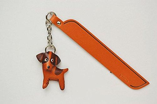 Jack Russell Terrier Leder Hund Charm Lesezeichen Vanca handgefertigt in Japan... -