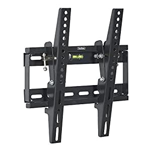"""VonHaus 17-37.5"""" Tilt TV Wall Mount Bracket with Built-In Spirit Level for LED, LCD, 3D, Curved, OLED, Plasma, Flat Screen Televisions - Super Strong 75kg Weight Capacity"""