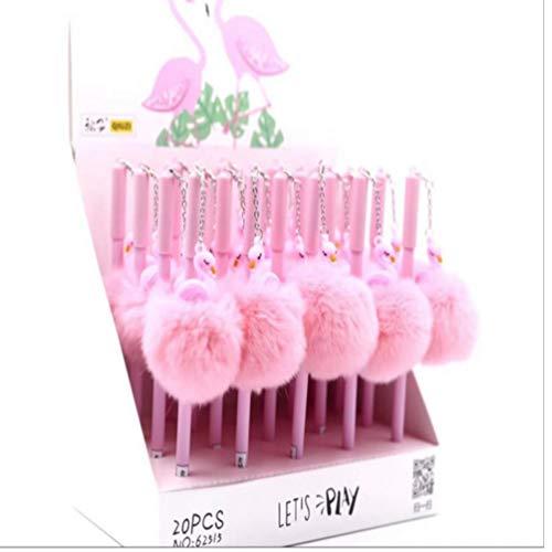 Zonster 1Pcs 0.5mm Plüsch-Anhänger-Gel-Feder Ink Pen-Babyparty-Geburtstags-Party-Kids School Office Supply -