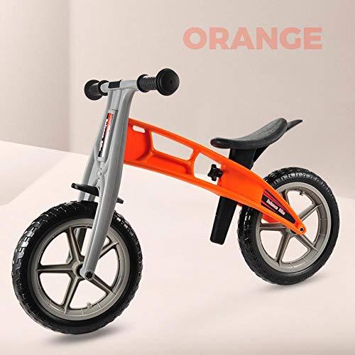 Ultraleichtes Laufrad für Kinder im Alter von 3 bis 6 Jahren, Kind, Kleinkind, Wanderer, Fahrradfahren, Spielzeug. Erfahren Sie, wie Sie Bicicleta No-Pedal Pre Bike Fahren, orange