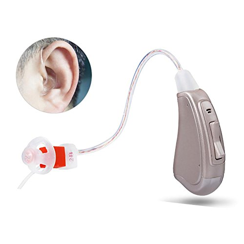 Hörverstärker R21 mit digitaler Noise Cancelling Hinter-dem-Ohr-Hörverstärker A312 Batterie , Right ear