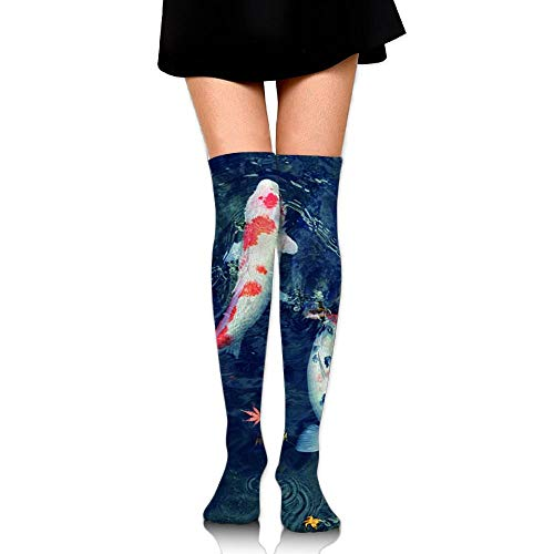 CVDFVFGB Men's/Women's Koi Fish Casual Crew Top Socks Knee Long High Socks -