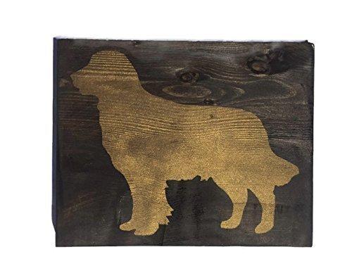 Monsety Holz Schilder für Das Handwerk Golden Retriever Silhouette Holz Plank Design Zum aufhängen 20x 25cm Schild Sign Schild Decor -