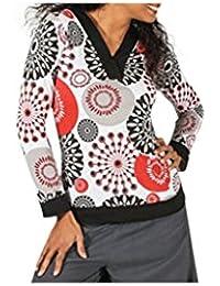 Aller Simplement - T-Shirt femme en coton à manches longues col tunisien Aller Simplement TS1123