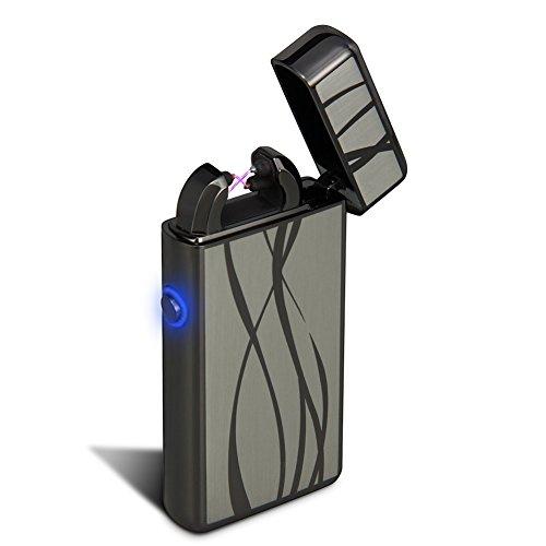 USB Feuerzeug - Padgene Lichtbogen Feuerzeug, Doppel-Lichtbogen flammenloses elektronisches Feuerzeug - SCHNELLER - ST?RKER - SICHERER - Wiederauflad