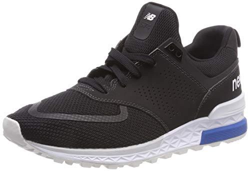 New Balance Herren 574S Sneaker, Schwarz Black PCB, 42.5 EU