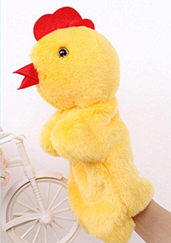 Honta ideale come festa dei bambini burattini mano gallina/gallo morbido peluche velour animal puppets mano guanto raccontare storie bambole giocattoli