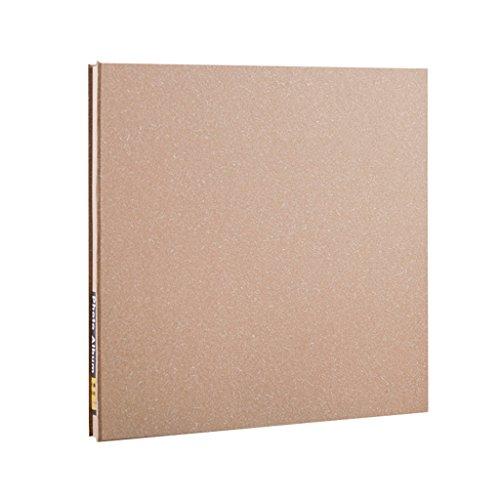 FOOHAO- Album photo auto-adhésif manuel bricolage, albums d'affaires minimalistes, 20 feuilles (40 surface), couverture blanche (Couleur : Black card)