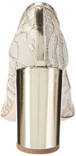 Dei Mille Damen Kelly-90 Pumps Weiß (bianco gold Lace)