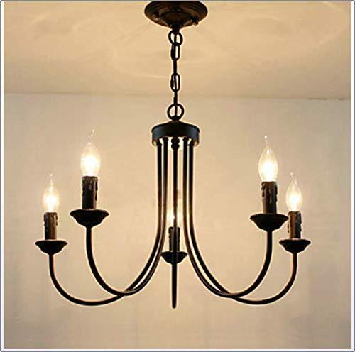 BDYJY * 5-Light Candle-Style Kronleuchter Ambient Light Painted Finishs Metallkerzenart 110-120V / 220-240V Glühlampe Nicht inbegriffen / E12 / E14,220~240V - Pro Style Wärmer