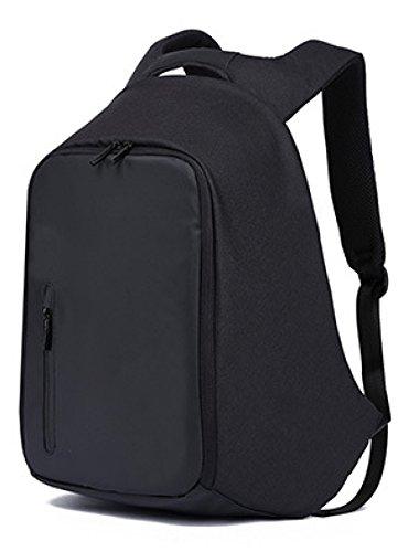 Rucksack Mit USB-Ladeanschluss Laptop-Rucksack Business-Reisetasche 17 Zoll Grau Schwarz,Black (Ticket-notebook)