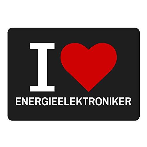 Mousepad Classic I Love Energie Elektroniker NERO