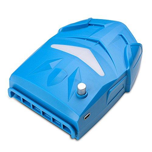 Alxcio Portabel Laptop Kühler Hochleistungslüfter Cooling Pad Luft Extrahierung Vakuum-lüfter Gaming Mate CPU Kühler mit USB, Einstellbare Windgeschwindigkeit, Leiser Betrieb, Ultra-portable Heizkörper, Wiederverwendbare, Energiespar für Notebook / Laptop, Blau