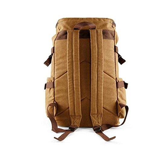 Zaino E Retro Uomini Backpack Viaggio Leggero Donne Da Canvas cFKlJ1