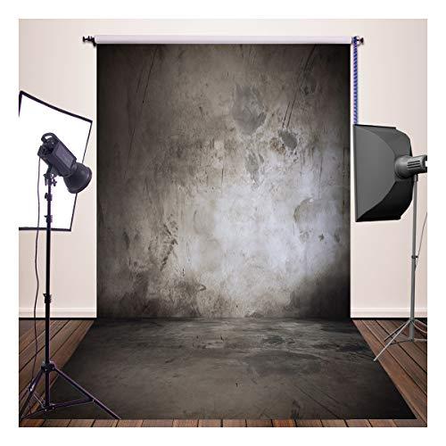 Toile de Fond Pour Photos Studio Photos NIVIUS PHOTO Imperméable Lavable Professionnelles Photographie Fond Mariage Portrait Décoration Murale Accessoires Props Mur en Béton Noir XT-3033(FR)