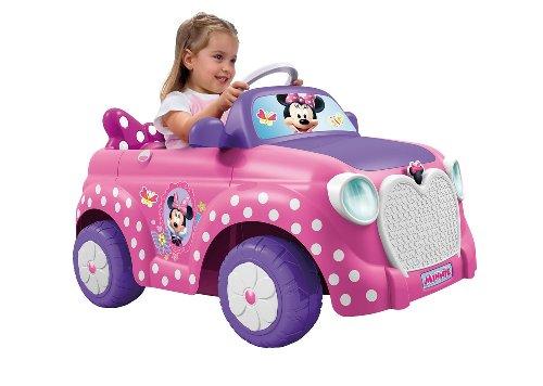 FEBER Famous 800008603 - Minnie Disney - Elektrisches Spielzeugauto, für Mädchen 18 Monate bis 5 Jahre, 6V, pink