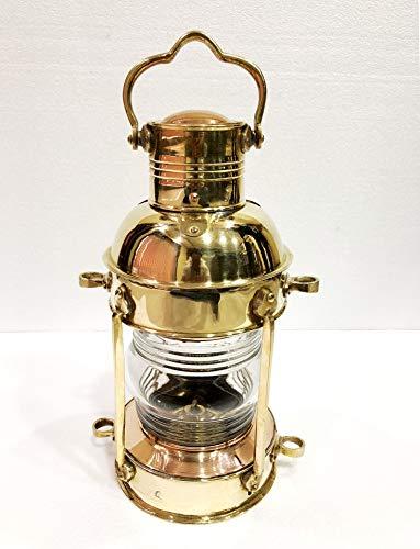 Antikes Messing-Leuchtturm-Laterne, Schiffslampe, maritimes Design, Wandbehang, Heimdekoration -