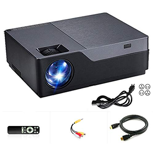 XH&XH Beamer Intelligentes Heimkino IPS LCD-Projektionsschirm Bluetooth 4.0 Multimedia-Projektor 1920 * 1080P Eingebauter HiFi 5W Lautsprecher Unterstützt AC3 File Solution/Android 6.0 4K Decode,A