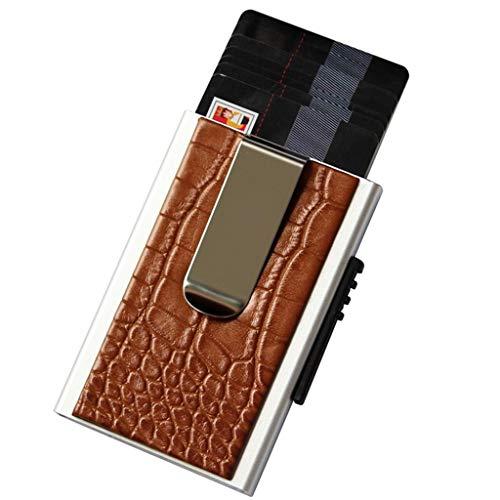 Visitenkartenbücher & -karteien Card Box Karte Box Brieftasche antimagnetische Anti-Diebstahl-Bank-Karte Box kostenlos Visitenkarte Box Männer und Frauen Business-Mode-Persönlichkeit kreative Visitenk