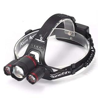 Alonefire Scheinwerfer HP33 Cree XML-T6 LED 2000 Lumen - Schwarz-Rot