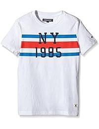 TOMMY HILFIGER KIDS - Flag Cn Tee S/S, Camisa De Pijama de niños, blanco, 8