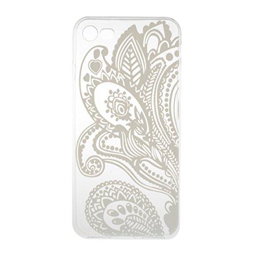 iPhone 7 hülle Case Cozy Hut Ultra Hybrid TPU Bumper for iPhone 7 Hülle Schutzhülle Shock Absorption Plating TPU Case Silicone Cover für iPhone 7 (4,7 Zoll) (2016) - Kleine Qualle Bougainvillea