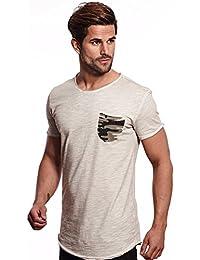 Carisma Herren T-Shirt Designer Mode Men's Wear Stylisches Sommer T-Shirt Dirty-Oil Camouflage Design verschiedenes Styles und Farben T-4378