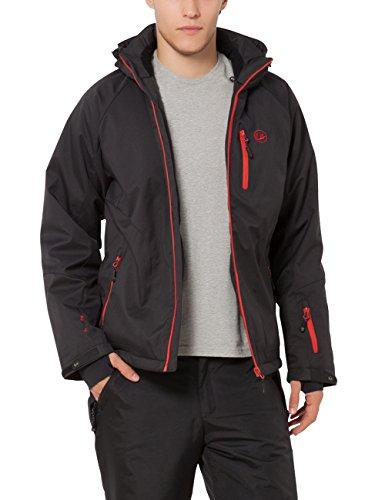 Ultrasport Herren Softshelljacke Everest, Schwarz/Rot, XL