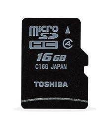 Toshiba microSDHC C16G 16GB Class 4 Memory Card